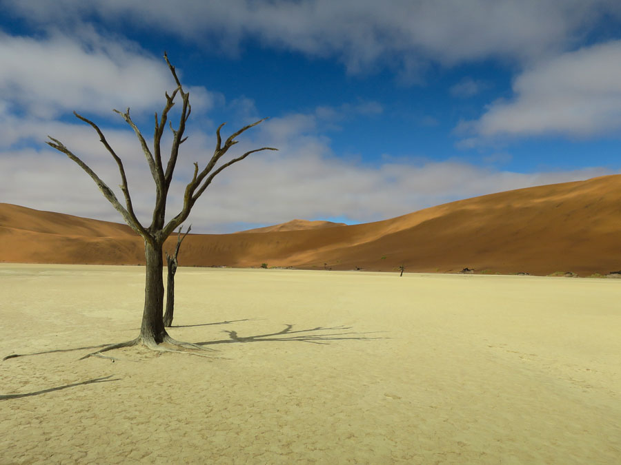 Deadvlei with some blue sky