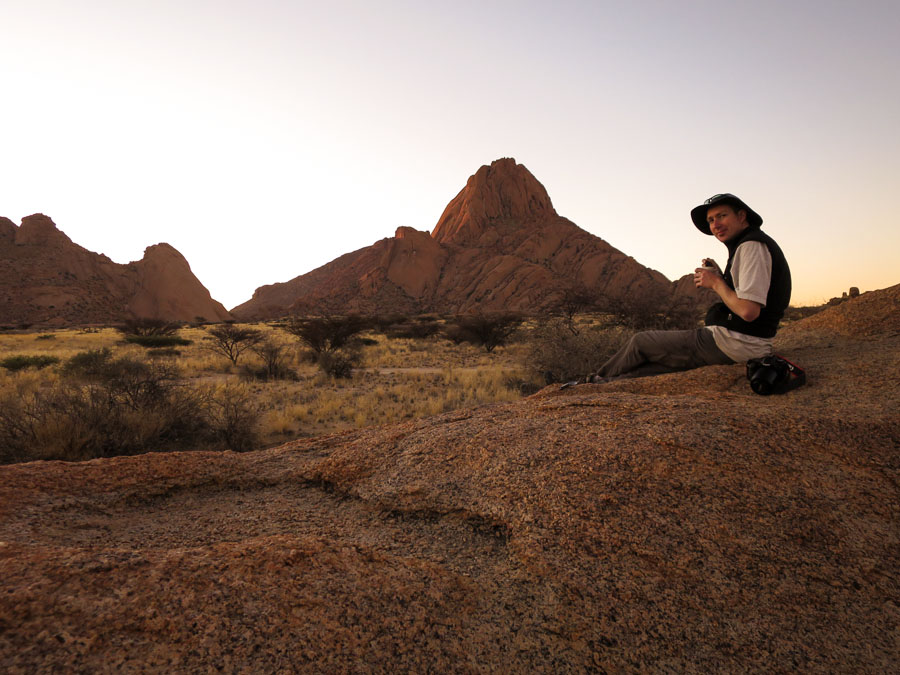 Sunset and Spitzkoppe