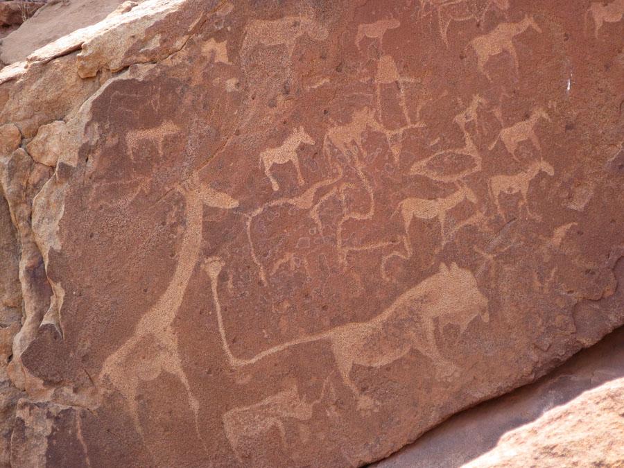 Rock etchings at Twyfelfontein