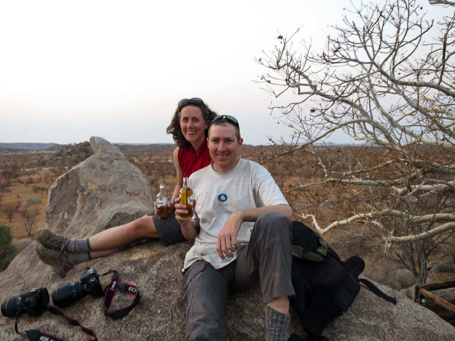 Sundowners at Hoada Campsite