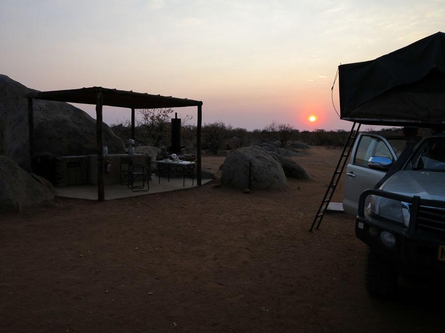 Sunrise at Hoada Campsite